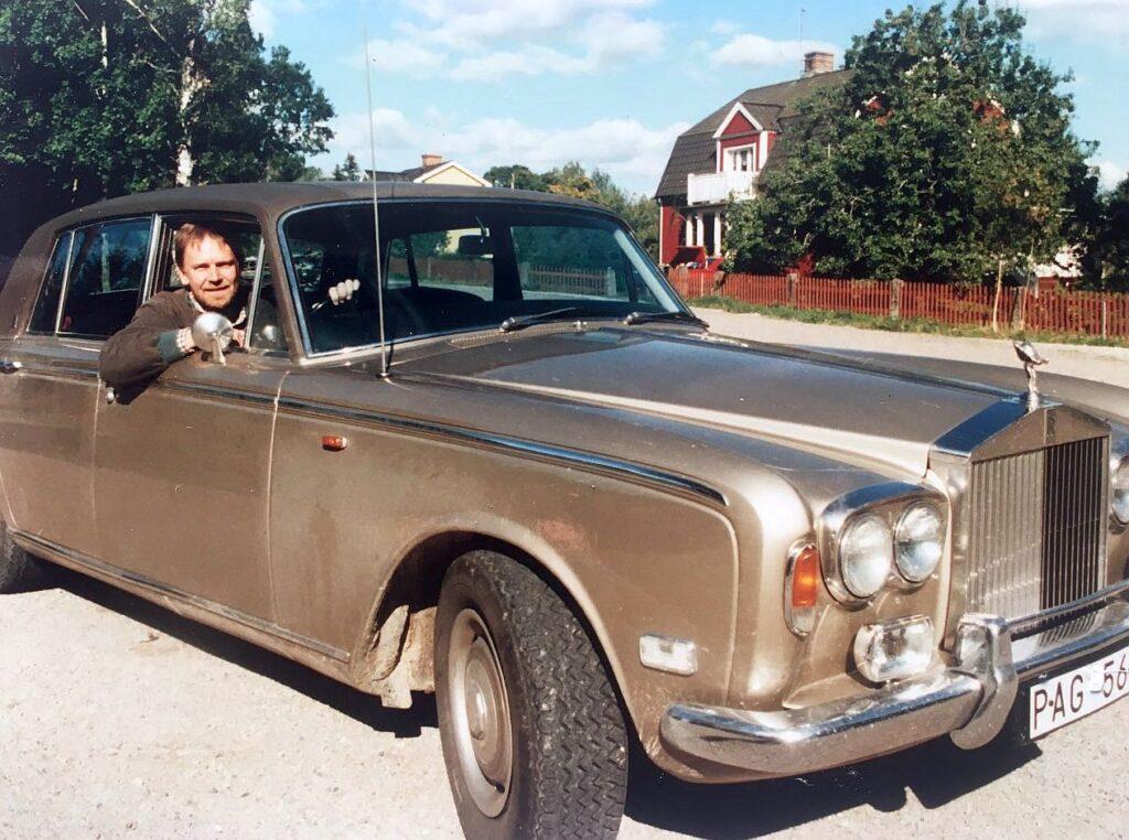 """Vagn i Rolls Royce, foto fra optagelser til """"Vagn på Sverige"""""""