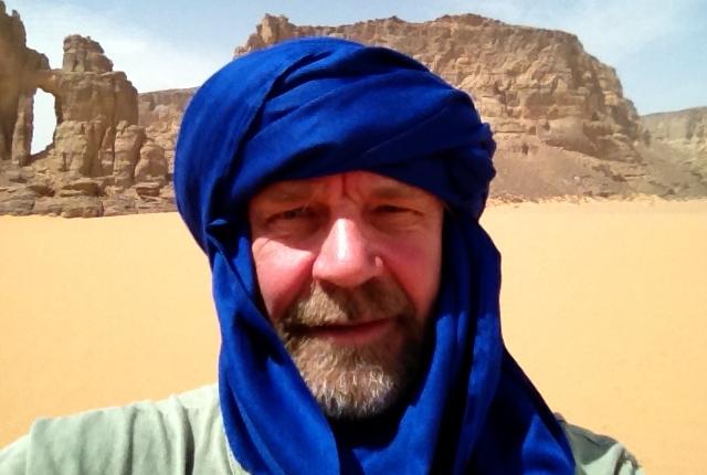Vagn Olsen med tagelmoust, bæres for det meste af mandlige tuareger, men benyttes af og til af mænd fra andre stammer. Og af Vagn...